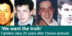 Families 'demand truth' on 20th anniversary of SAS Clonoe ambush