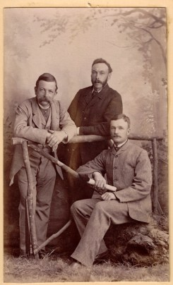Three Gentlemen photographed by Thomas Channon, Newcastle circa 1882-1891. (Photo Credit: Digitised by Anne Glennie from the Glennie Family Albums)