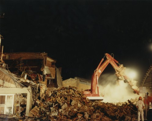 Demolishing at the former Newcastle Workers Club
