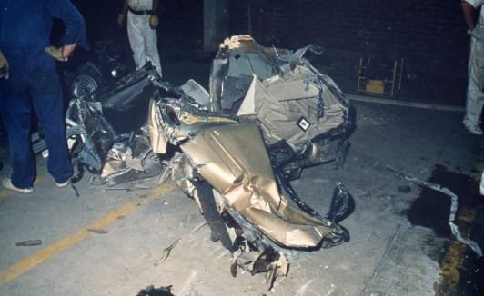 Car underneath the former Newcastle Workers Club