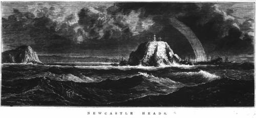 'Newcastle Heads' from the Illustrated Sydney News 26 June 1875 p.13