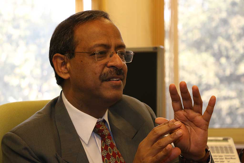 Anil Swarup talks animatedly