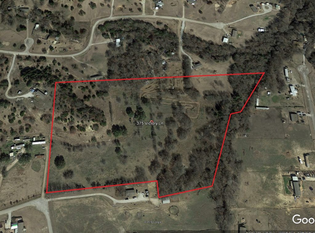 Aerial Map   20 acres  S W of Springtown  Texas   UNDER CONTRACT     Aerial Map     20 acres  S W of Springtown  Texas     UNDER CONTRACT