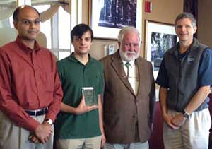 Winnder of the Jim _ Sheila O_Brien Graduate Fellowship Award Recipient _pictured are Vasu Misra_ J-P Michael_ Jim O_Brien_ and Eric Chassignet