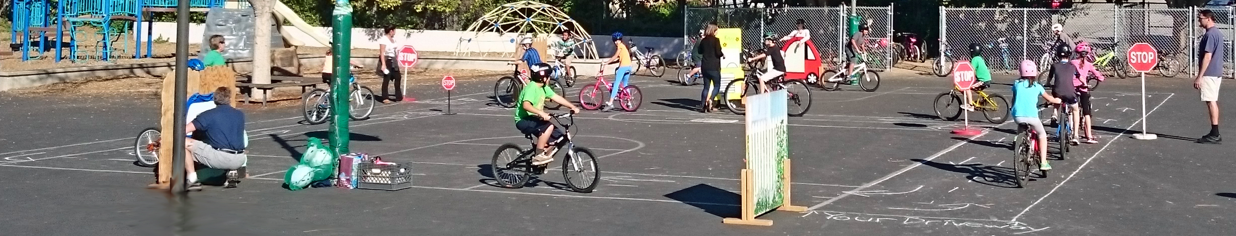 A Full Bike Rodeo In Action!