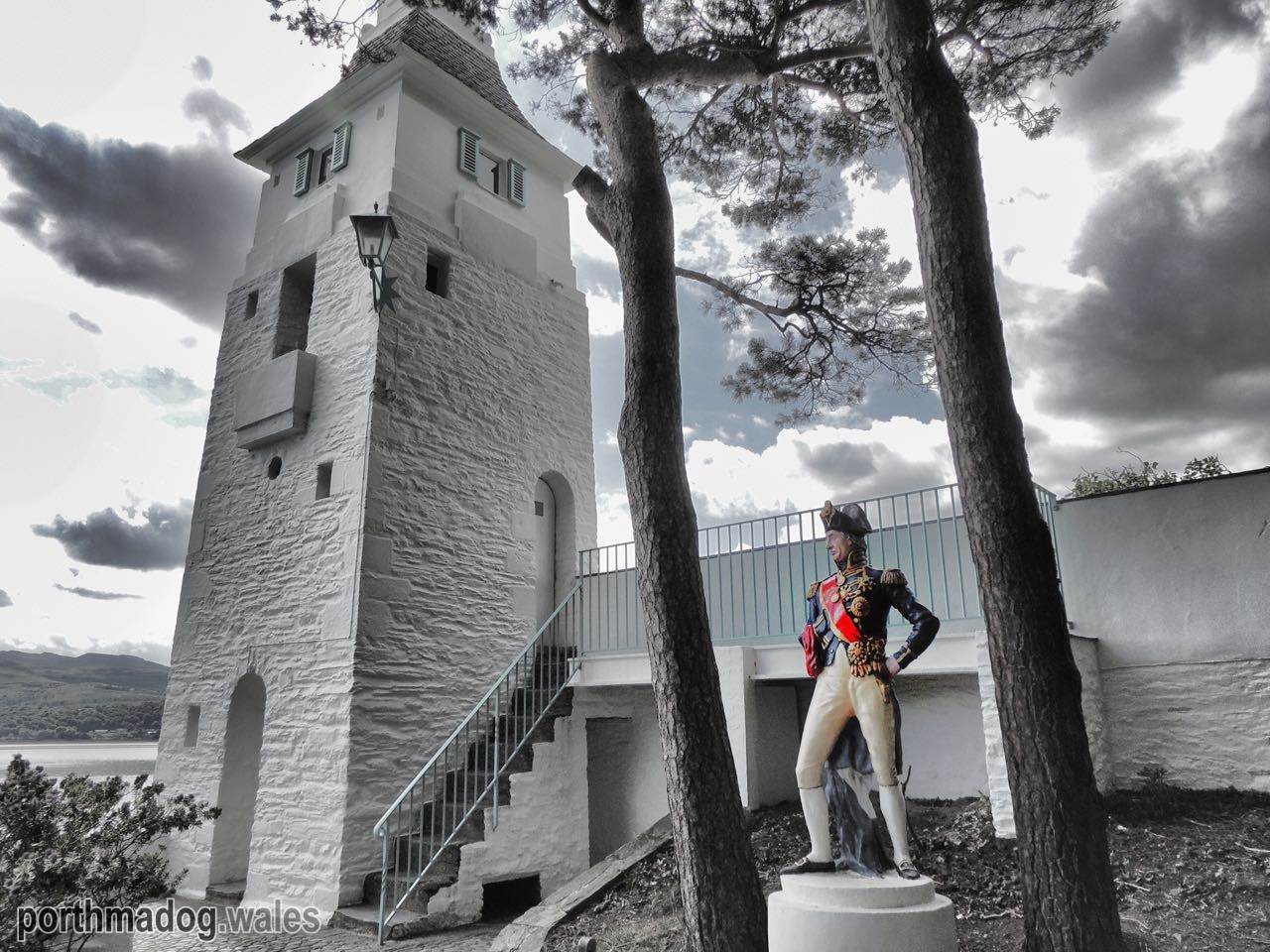 The Statue of Nelson at Portmeirion