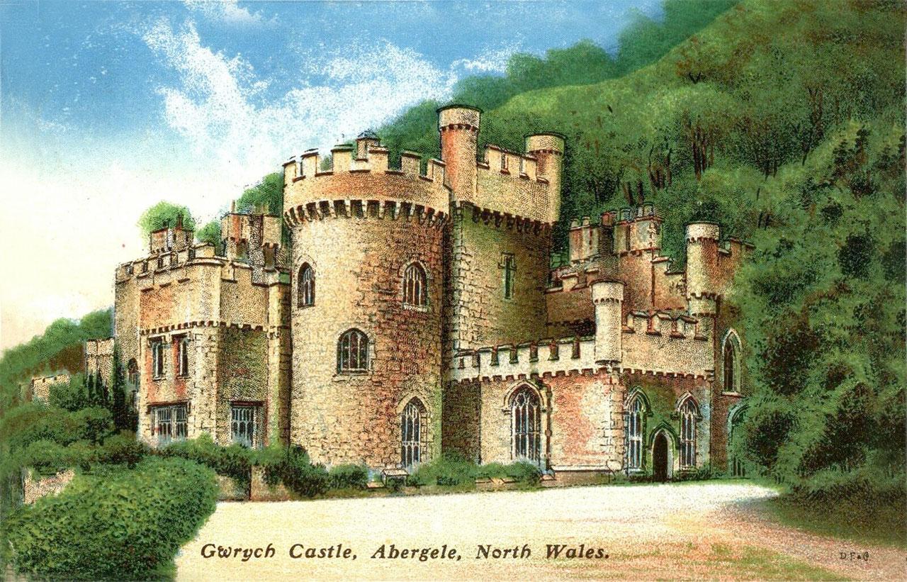 Postcard of Gwrych Castle