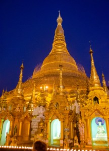 Shwedagon Pagoda, view from the south