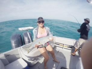 Tiara Collier, near Marquesas Island past the Keys, yellow tail amberjack 28 inches!