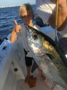 Kale Small with a nice blackfin tuna off of Lost Tree