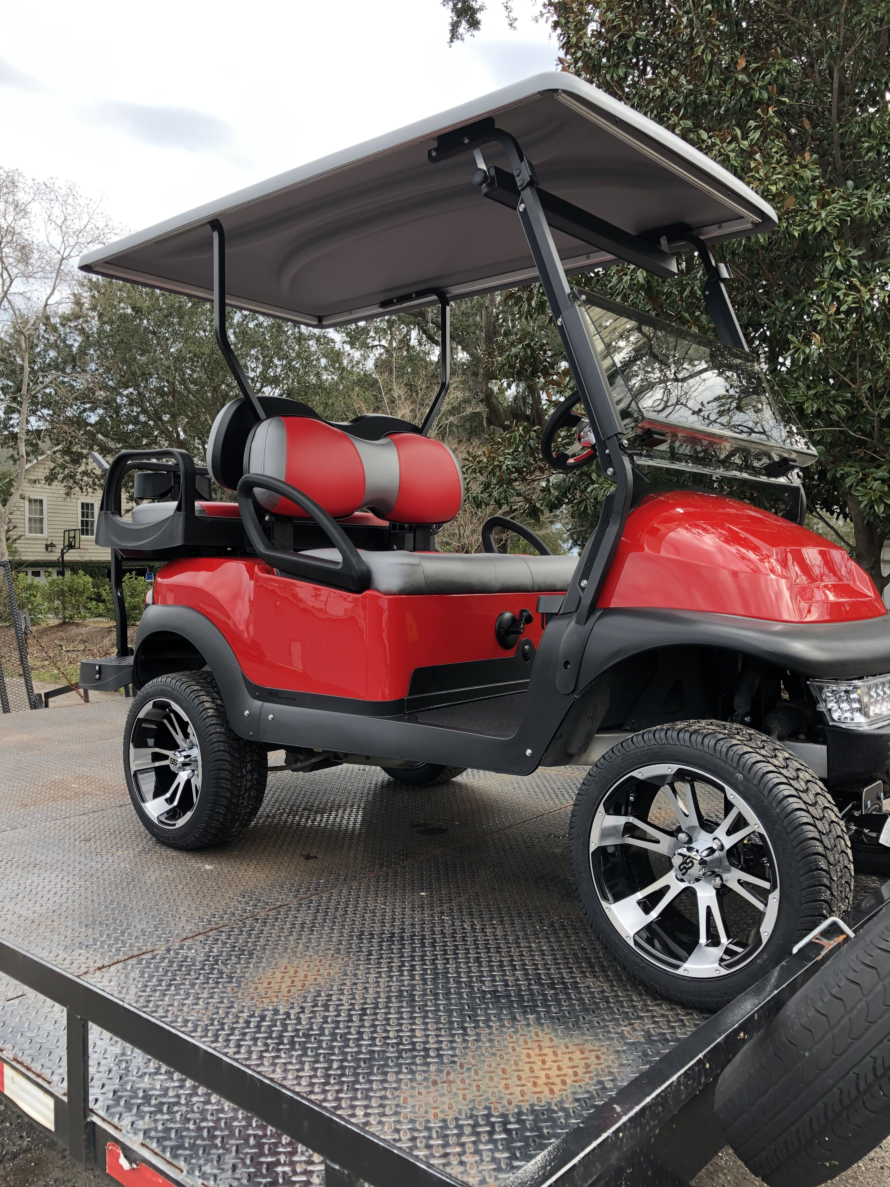 Coastal Carts Unlimited- Red Club Car For Sale