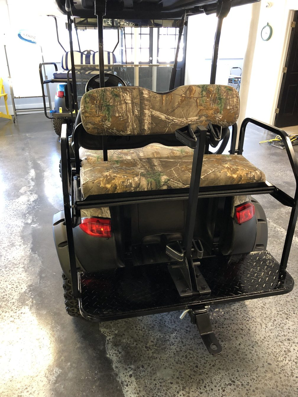 Rear Stand Up Gun Rack- Camo Golf Cart