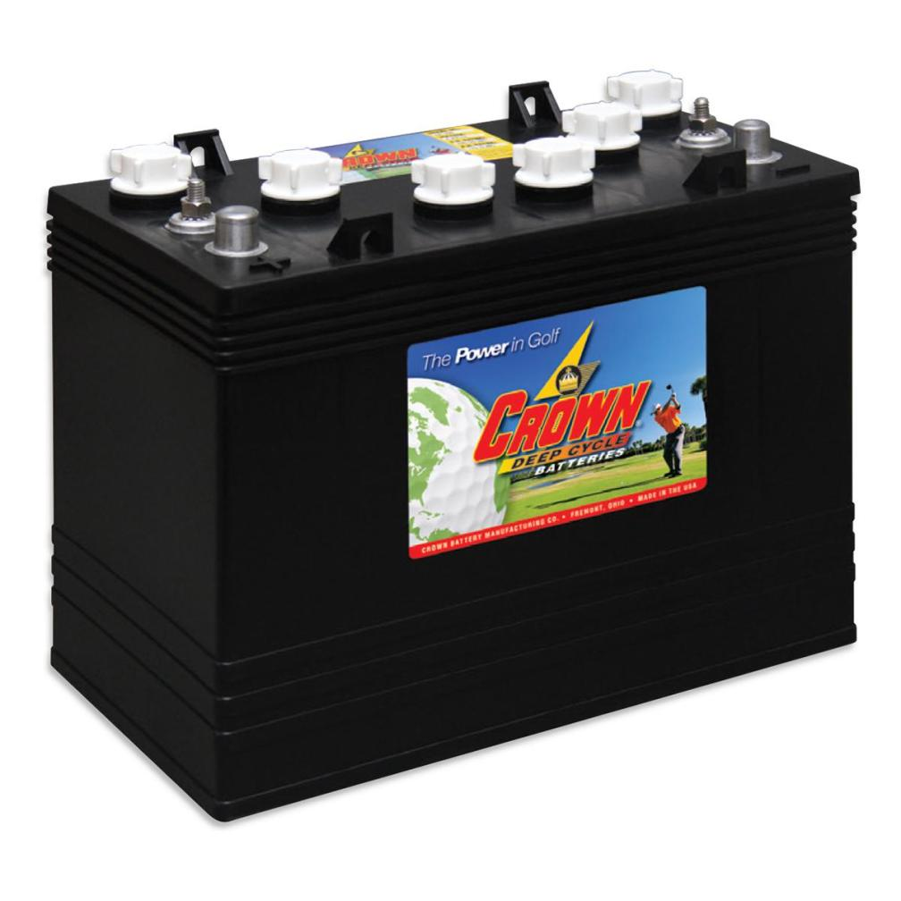 Deep Cycle 12 Volt Golf Cart Battery-Crown Battery
