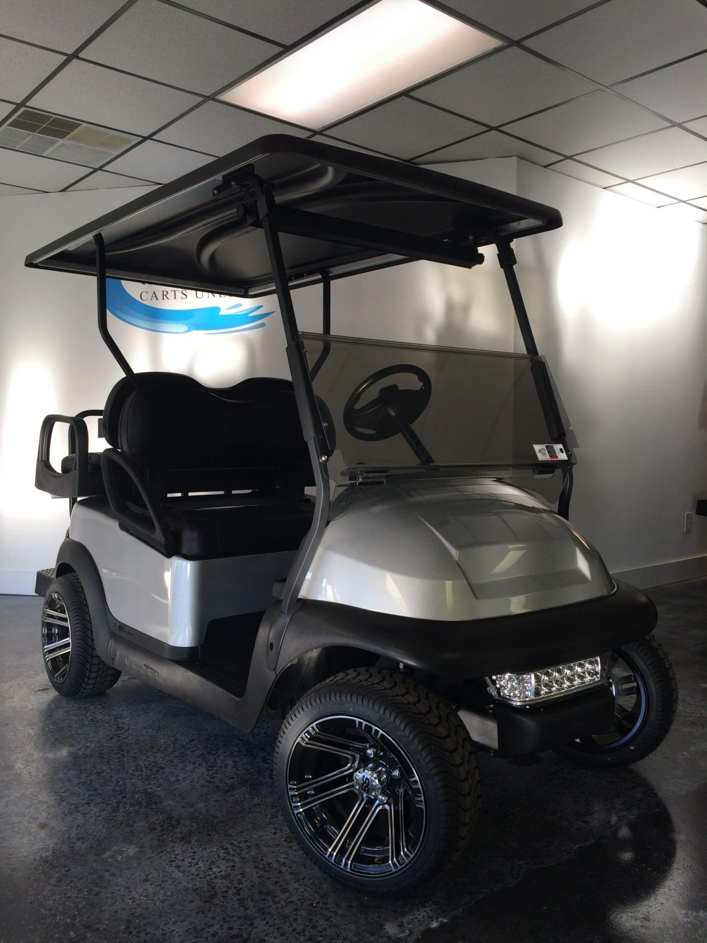 Silver Club Car-Coastal Carts Unlimited