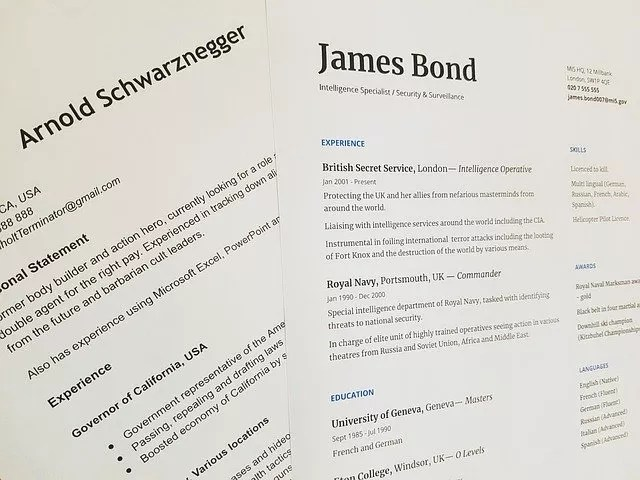 CV and cover letter editing