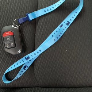 Light Blue Lanyard with Navy imprint
