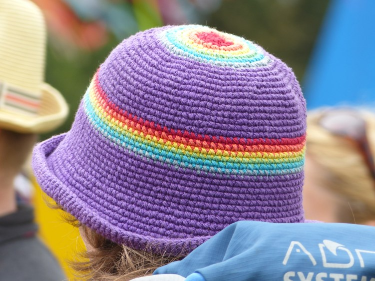 A colourful crochet hat!