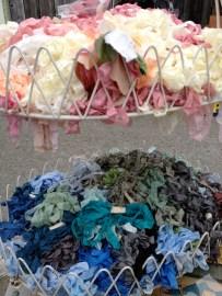 Scrunchy tie dyed ribbon