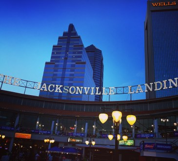 Jacksonville Landing at night