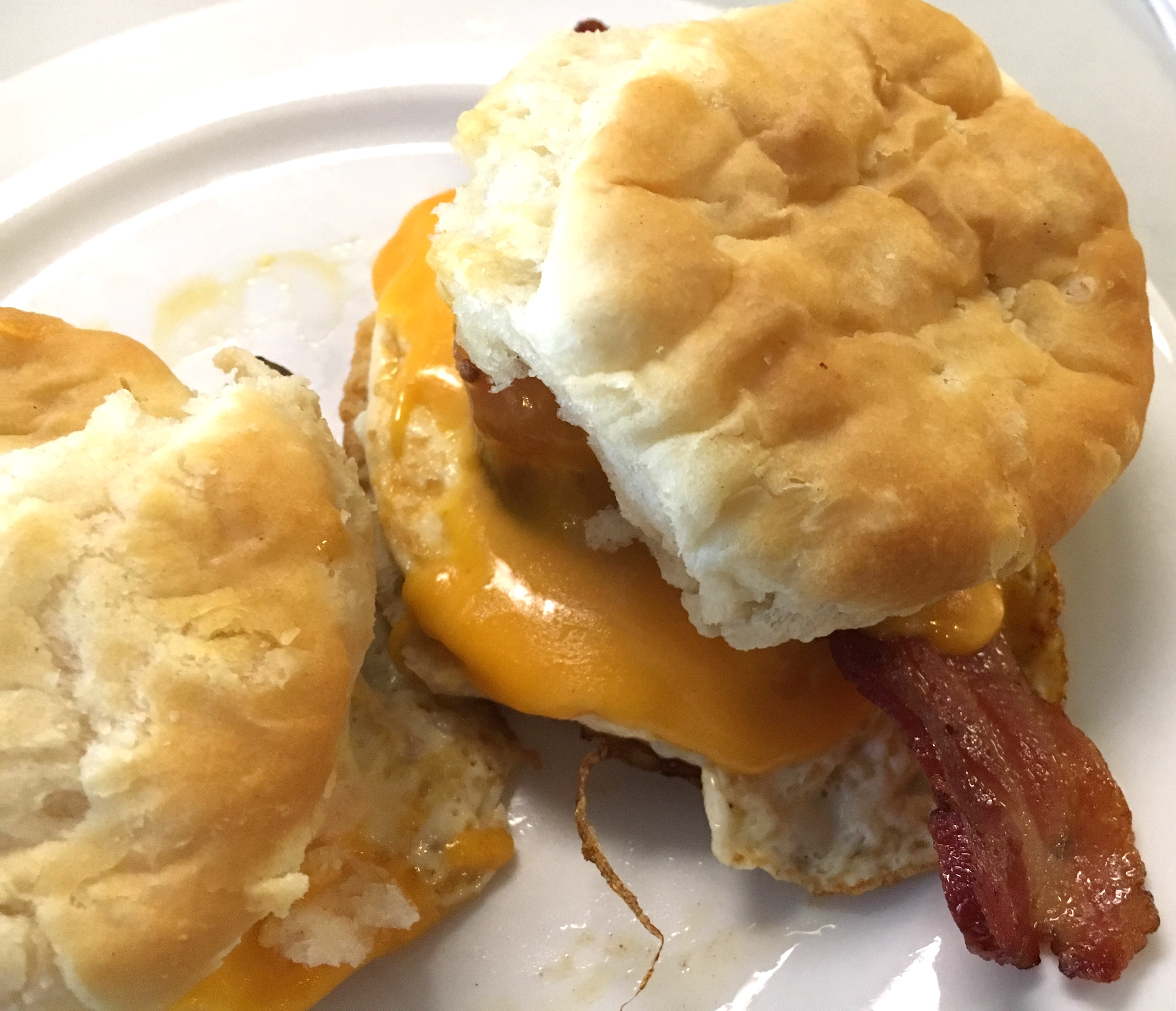 Egg and cheese biscuit at The Fox Restaurant, Jacksonville, FL