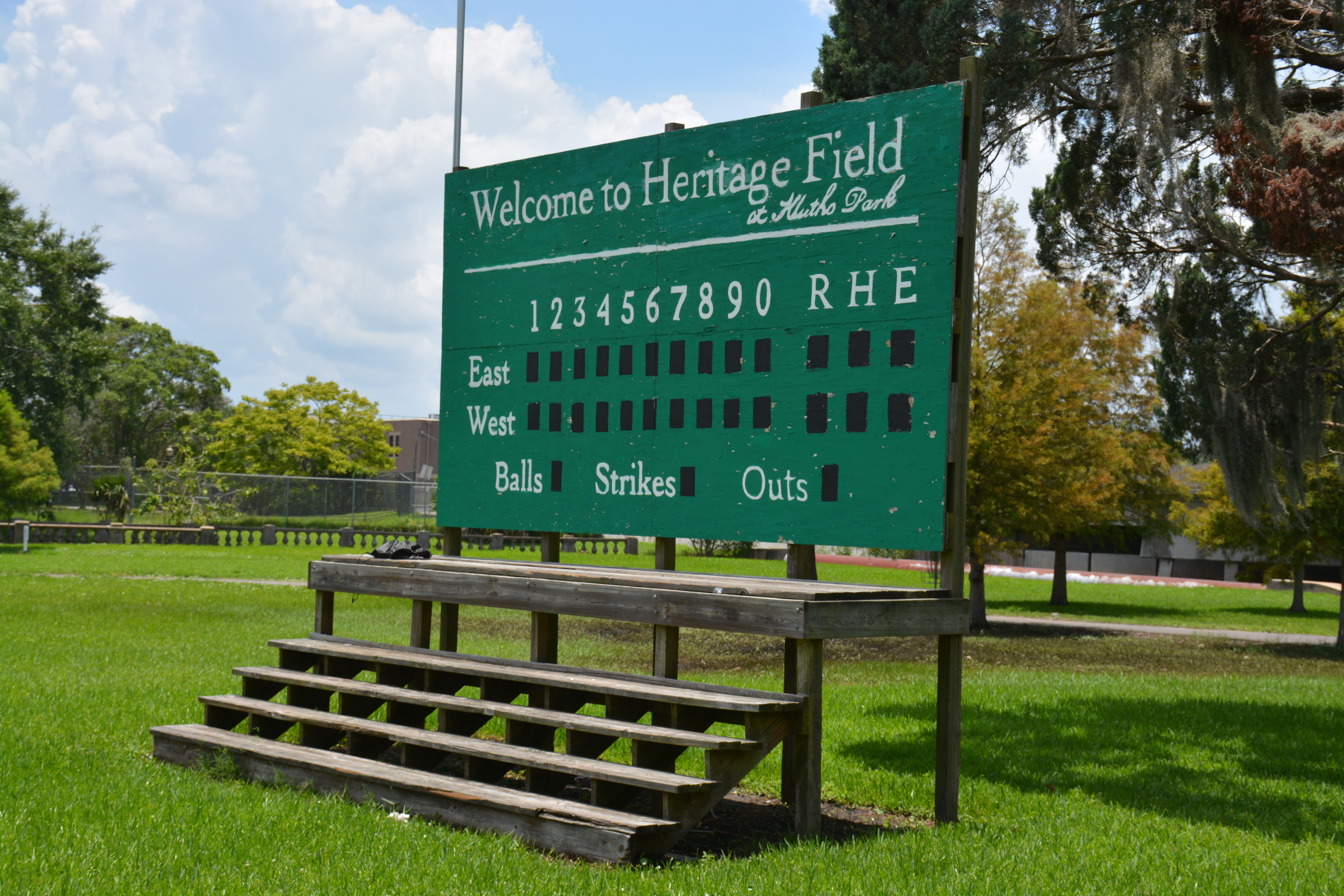 Heritage Field sign at Klutho Park