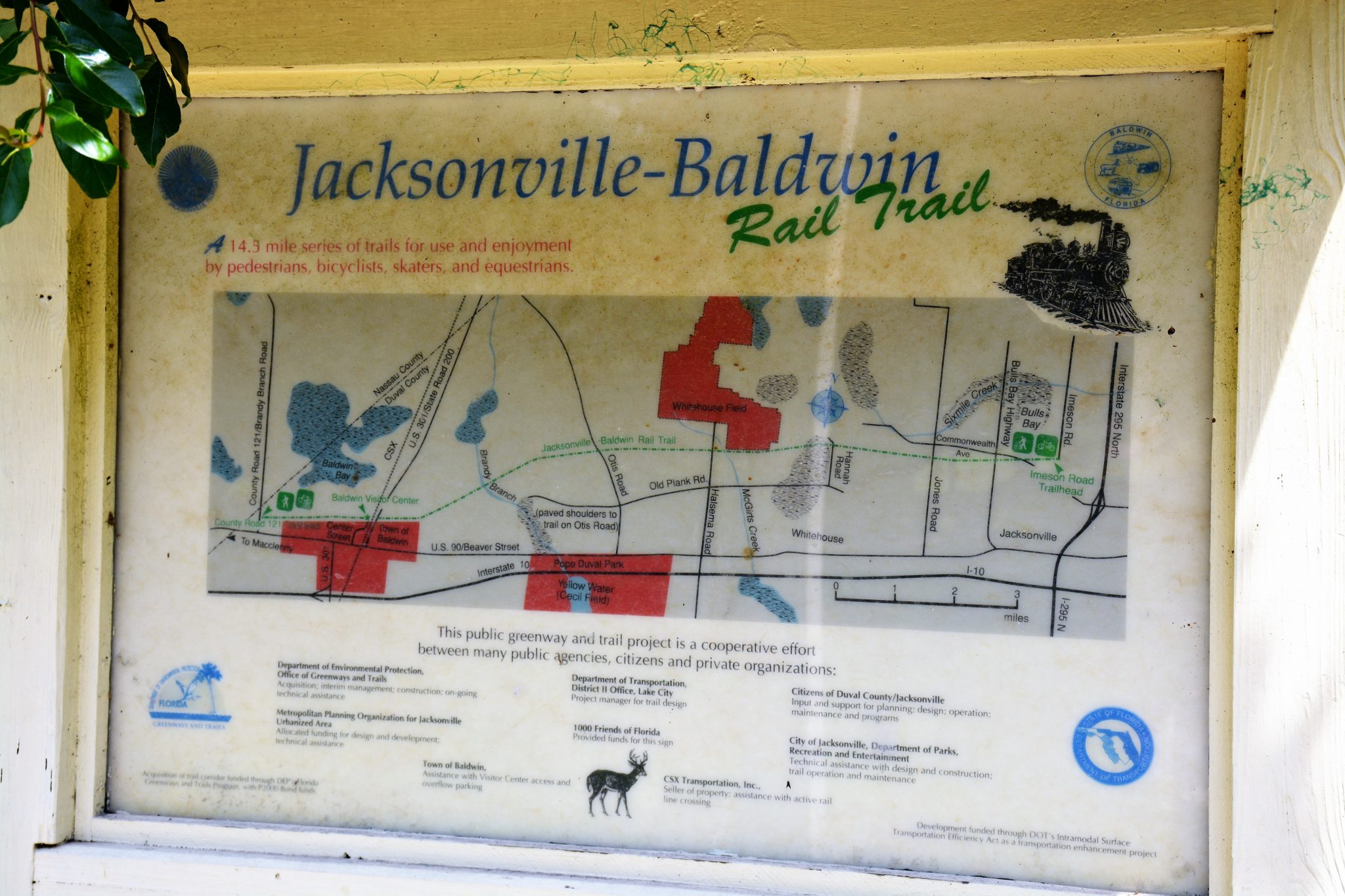 Jacksonville-Baldwin Rail Trail map