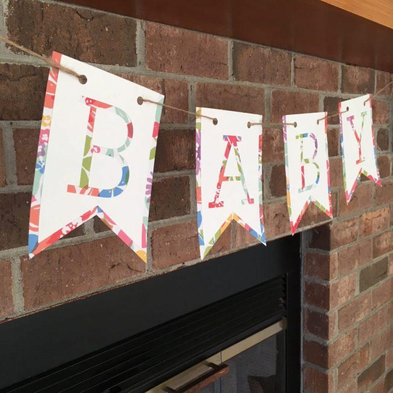 Diy Simple Baby Banner Coastal Kelder