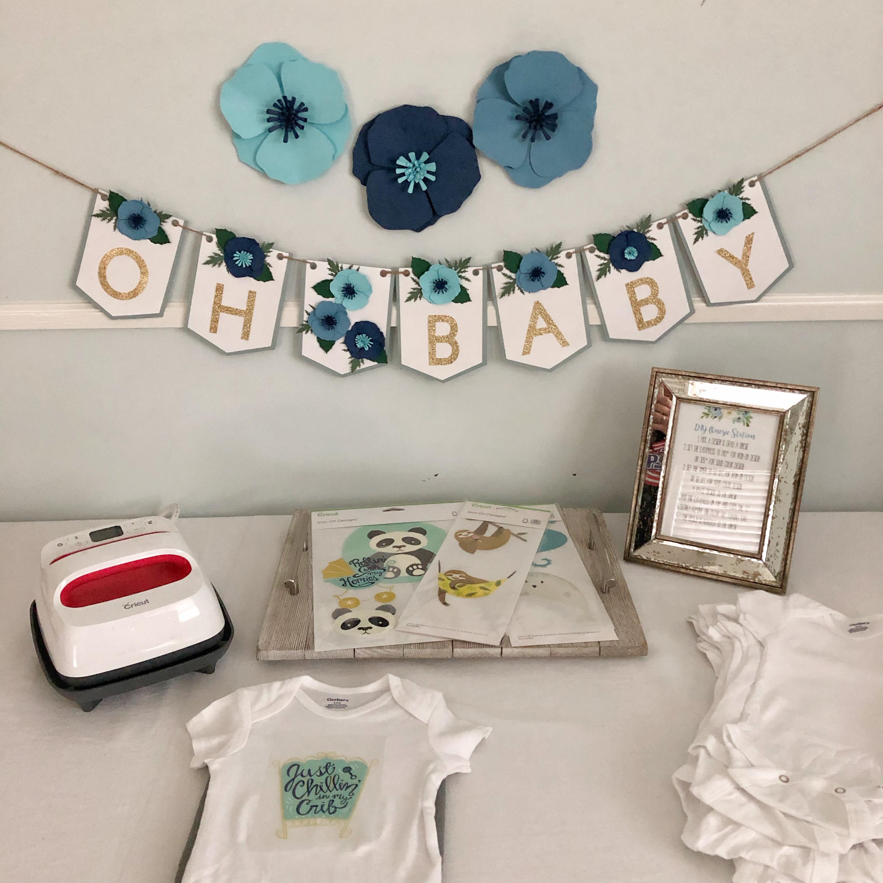 Baby Shower Activity DIY Iron-On Onesie Station