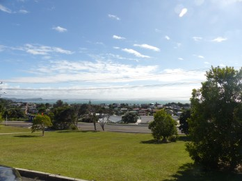View from Sally's Nia class outside Auckland