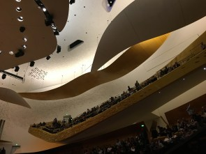 Inside the concert hall looking up
