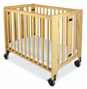 Compact Crib with Linens Image