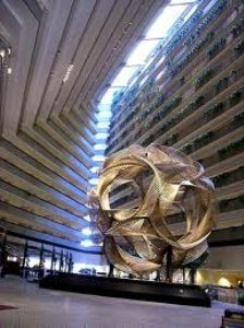 The atrium of the Hyatt Regency San Francisco