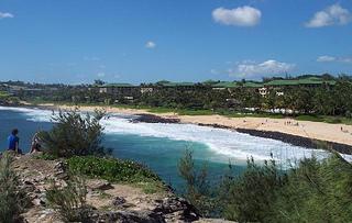 A view of the Hyatt Regency Kaua'i from Kaneole Point