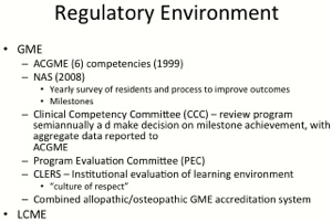 Impact of New Accreditation Requirements