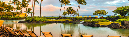 The Saltwater Lagoon adjacent the South Pacific at Grand Hyatt Kaua'i