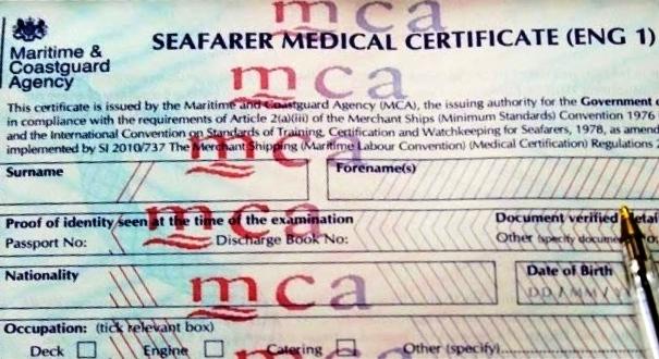 ENG1 medical certificate commercial endorsement