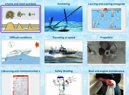 RYA Advanced Powerboat Certificate chart symbols coastal safety marine skills knowledge online course
