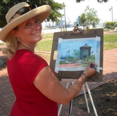 Gina Warren Buzby, Plein Air Artist, Norfolk, VA