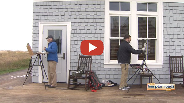 Coastal VA Plein Air featured on the Hampton Roads Show