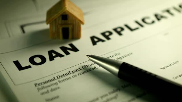 A loan application