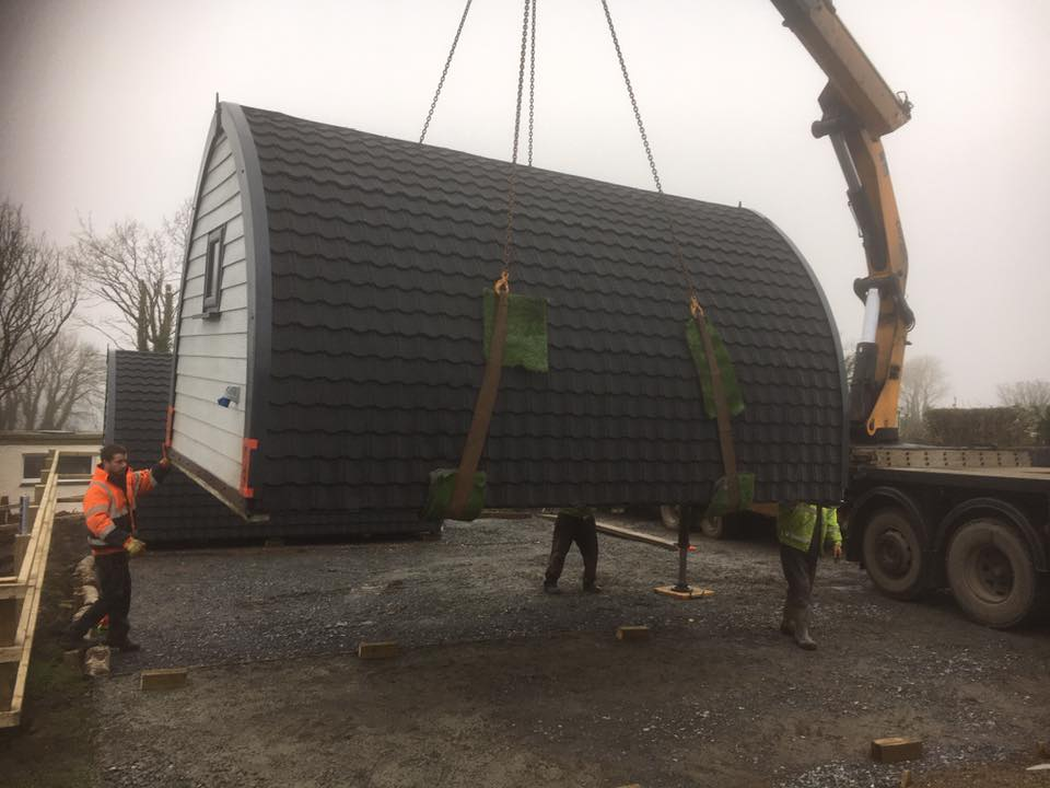 Camping Pod, Lynmouth Install