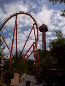 Tatsu & Sky Tower at Six Flags Magic Mountain