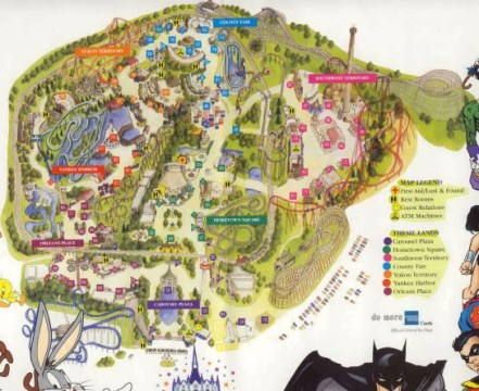 Six Flags Great America Map 2000