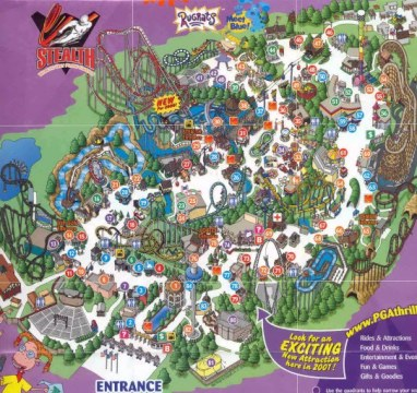 Paramounts Great America Map 2000