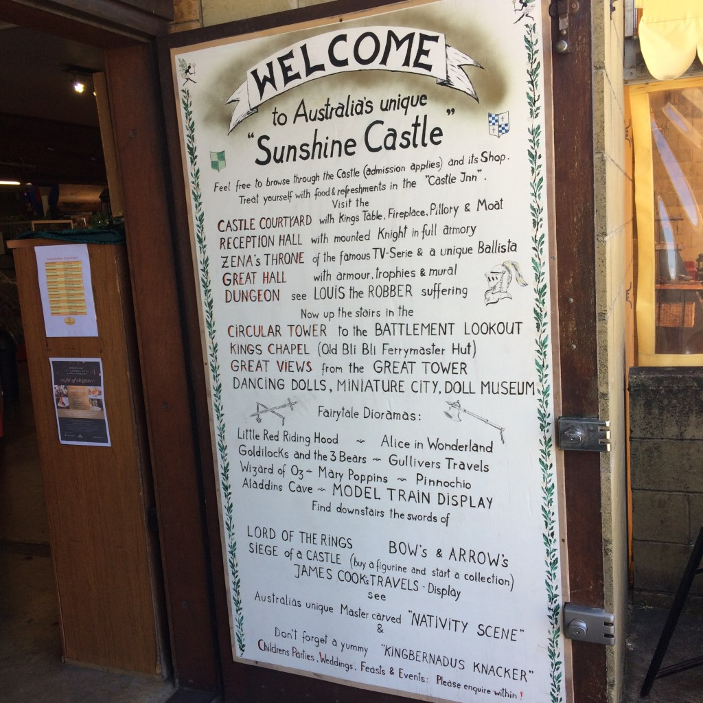 The welcome sign at Sunshine Castle