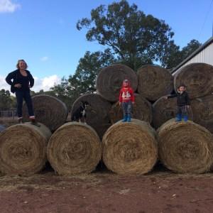 Full Time Family Travel - family at a farm