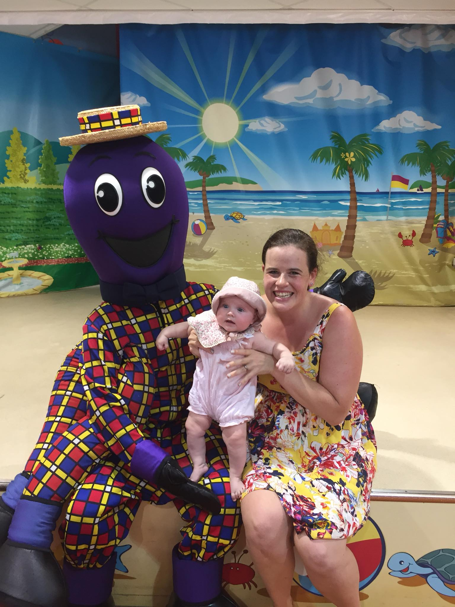 A family with Henry the Octopus at Dreamworld