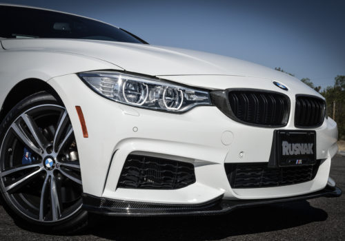 BMW w/ Carbon Fiber Lip and Kidney Grilles Installed