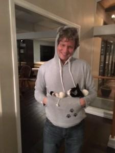 Matt Rohde rocking his Kitty Roo sweatshirt