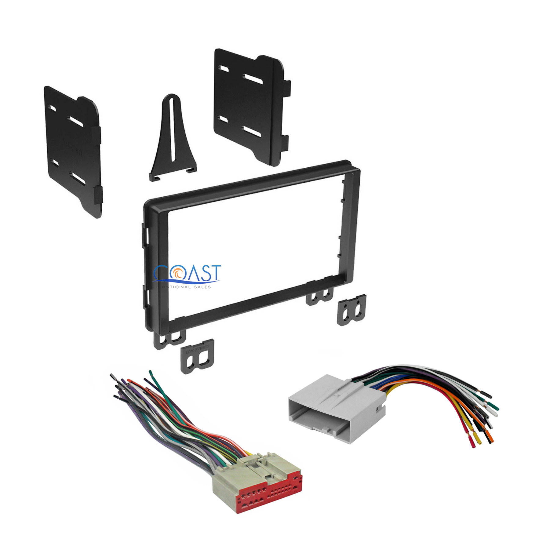 Car Radio Stereo Double Din Dash Kit Wire Harness For